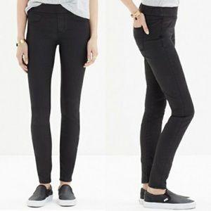 Madewell Black coated Pull on Jeans